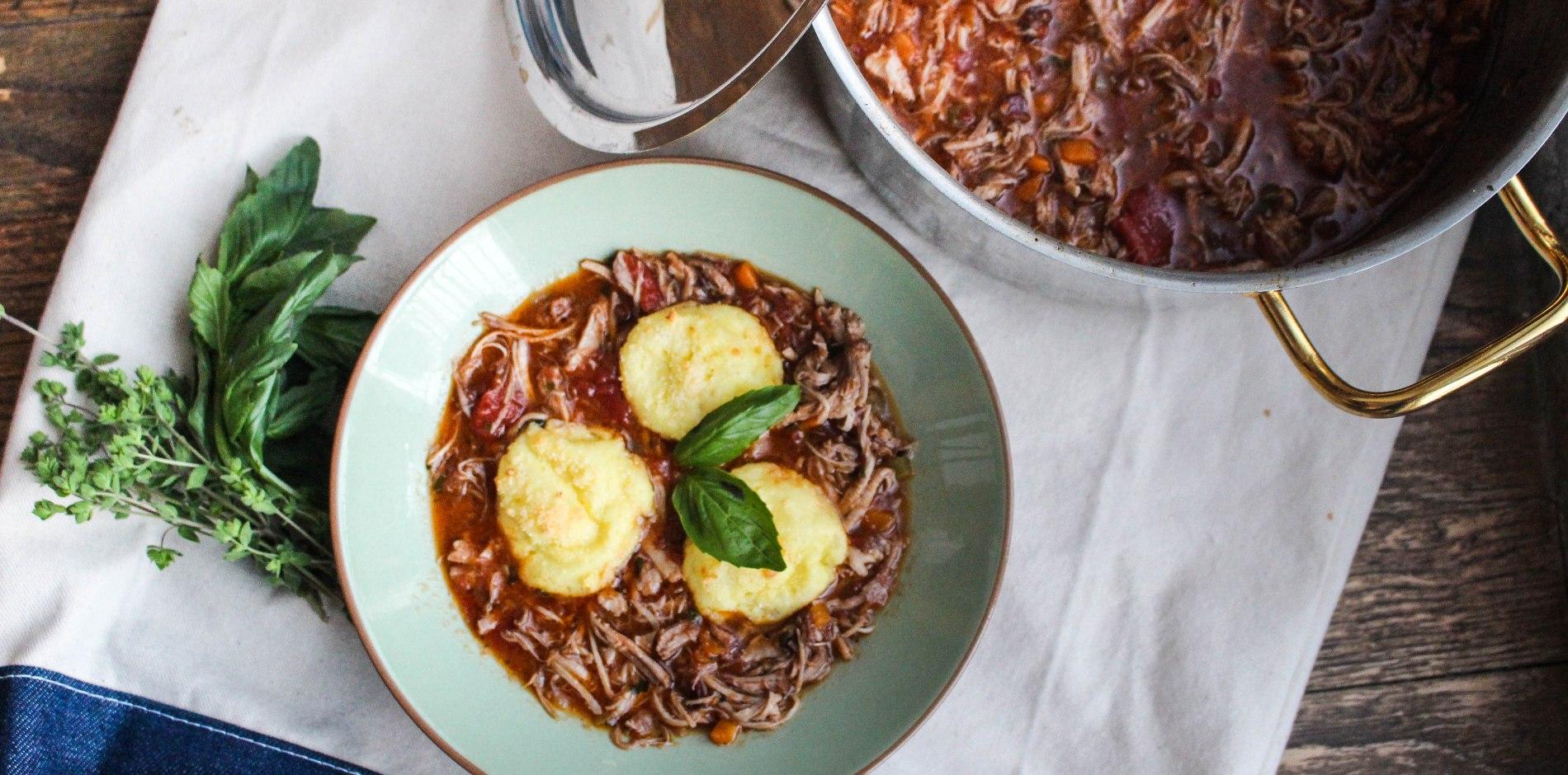 sunday dinner: pork ragu with parmesan semolina gnocchi ...